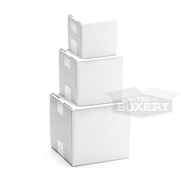 6''x6''x6'' WHITE Corrugated Shipping Boxes