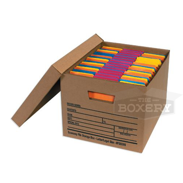EconomyHeavy Duty  sc 1 st  The Boxery & Storage File Boxes | Standard Strength Boxes | Corrugated Boxes ...