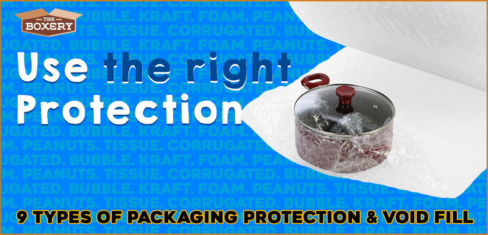 9 types of packaging protection & void fill