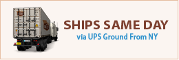 All Orders Ship Same Day via UPS Ground
