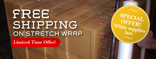 Special Offer! FREE SHIPPING on all stretch wrap