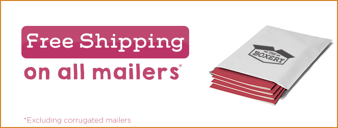 Free shipping on all mailers*!